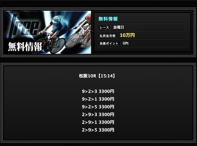 サイクル-9月13日松阪10R無料予想