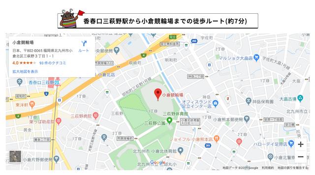 小倉競輪場のアクセス